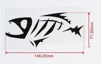 Skeleton Tribal Fish Vinyl Decal Sticker Kayak Fishing Car - Boat decals fish   easy removal