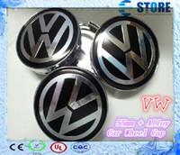 Wholesale Vw Centre Caps - Free Shipping Hot Sale 55mm BLUE Alloy Wheel Centre Center Cap Caps Car Badge Emblem Emblems for VW Volkswagen-J
