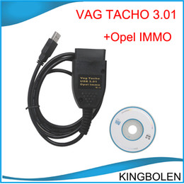 Wholesale Vag Usb - Vag Tacho 3.01 For VW Audi + USB Immo Airbag Reader For Opel OBD2 Airbag Scanner VAG Tacho Mileage Correction tool