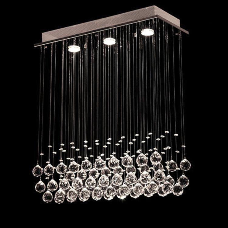 Discount Chandelier Led Crystal K9 New Hanging Wire Cylindrical ...