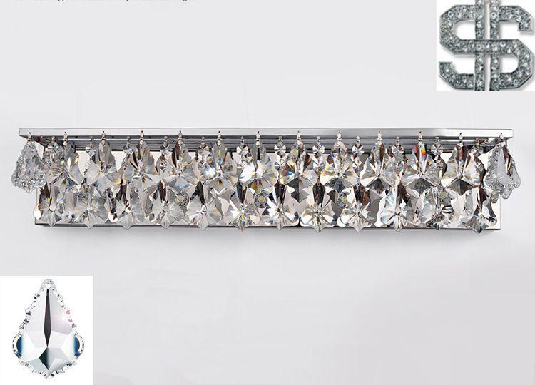 Bathroom Lighting Crystal 2017 sconce light wall light crystal k9 led modern bathroom mirror