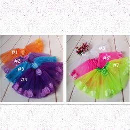 $enCountryForm.capitalKeyWord NZ - children 2layer tulle petal tutu skirt girls princess bow floral tutu skirt for baby girls halloween orange tutu