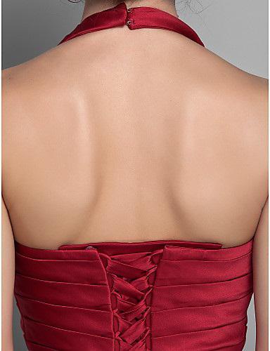Полная изысканная мода красный V-образной вырезывает тафта ручной работы цветок бусины горный хрусталь сыпь \ rack a-line Длина пола мать невесты платья