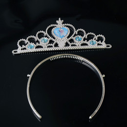 Wholesale Baby Crystal Crowns - Tiara Crown Hair Band Sparking Crystal Cubic Zirconia Paved For Children Baby Party Hair Accessories (1704001)