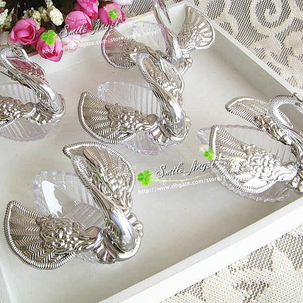 Wedding Favor Boxes Acrylic Swan Shaped Wedding Gift Candy Favor Sweetbox Candy Package New Novelty Wedding Favors holders High Quality