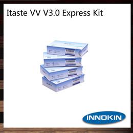 Wholesale Itaste Vv Voltage Adjustable - Innokin Itaste VV V3.0 Express Kit VV Mod Vaporizer Itaste V3.0 VV VW E-cigarette Kit Variable Voltage 3.3V-5.0V LED Battery Indicator