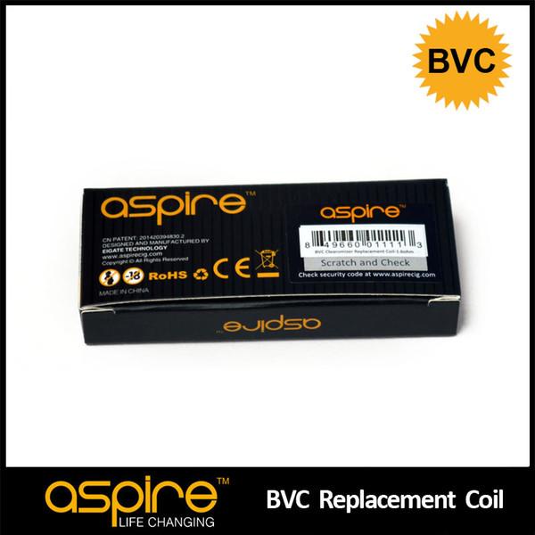 Wholesale E Cigarette Accessories 100% Original Aspire Dual Coil BVC Core Ego Atomizer Head Electronic Cigarette Coil Vaporizer Coil Wire
