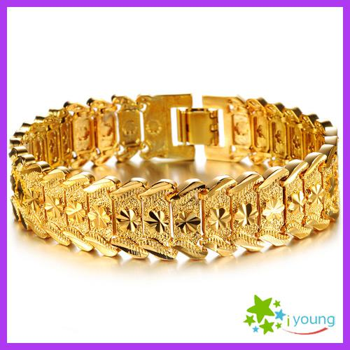 Fashion Jewelry Mens Accessories 18k Gold Plated Adjustable