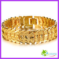 Wholesale Wedding Hand Chain Jewelry - Fashion Jewelry Mens Accessories 18k Gold Plated Adjustable Bracelets Upper Arm Wedding Bangles Engagement Gift Male Hand Chain