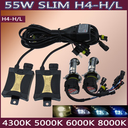 Wholesale Xenon Hid H4 Halogen - 55W HID Conversion Xenon Kits Headlight H4 H13 9004 9007 4300k 6000k 8000k 10000k High Low Beam Halogen for almost all the auto