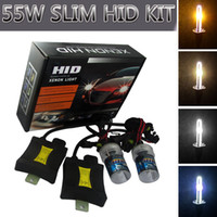 55W Xenon HID Phare Conversion H8 / H9 / H11 H3 880/881 H13 4300K ​​6000k voiture Kits LED Ampoules Xenon HID