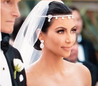 Wholesale Sparkly Tiaras - 1PC Wedding Bridal Tiaras & Hair Accessories Fancy Flower Sparkly Crystal Bridal Jewelry Bride Headband
