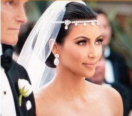 Wholesale Fancy Hair Accessories - 1PC Wedding Bridal Tiaras & Hair Accessories Fancy Flower Sparkly Crystal Bridal Jewelry Bride Headband