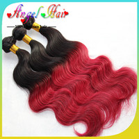red human hair weave