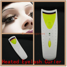 Wholesale Building Electric - New Hot sale 10X Professional Electric Beauty Tool instant Built-in Heated Soften Eyelash Curler Free shipping