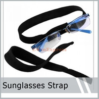 Wholesale Sunglasses Cords Wholesale - 100Pieces X Wide Eyeglasses Strap Eyewear Strap Neoprene Sunglasses Strap Glasses Head Band Glasses Sunglasses Retainer Cord