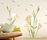 Wholesale Wall Flower Decals - Flower Removable Wall Sticker for Living Room and Bedroom Wall Decor