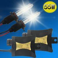 Wholesale Led H11 55w - US Stock! 55W HID Xenon Headlight Conversion H8 H9 H11 H3 880 881 H13 4300k 6000k Car LED Bulbs