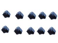 kippschalter leuchtet großhandel-Neue Auto Auto 12V 12 Volt Runde Wippe Dot Boot mit Blauem LED-Licht-SPST-Schalter AUF OFF