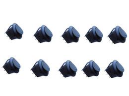 Venta al por mayor de Nuevo Coche Auto 12V 12 Volt Ronda Rocker Light Blue Dot Barco LED SPST Toggle Switch ON OFF