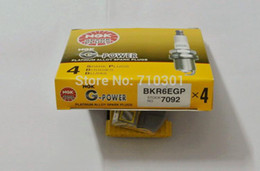 Wholesale Ngk Plugs - Free shipping!! G-POWER super Platinum spark plug NGK BKR6EGP 7092, MADE IN JAPAN. 4PCS LOT, suitable for toyota, renault