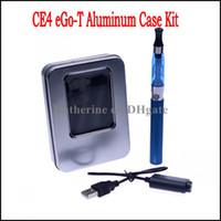 Wholesale Ego T Kit Aluminum - Aluminum Case Single Kits CE4 Atomizer 650mah 900mah 1100mah eGo-T Battery CE4 Electronic Cigarettes E Cigarette Cig Various Colors Instock