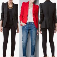 chaqueta de encaje de dulces al por mayor-Primavera 2014 ZAZA Blazers, chaqueta de algodón para mujer, mantón de encaje, color caramelo y traje de rayas.