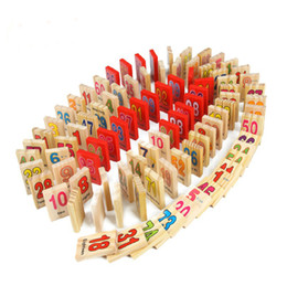 Wholesale Kids Toys Domino - Wholesale-3D Wooden Puzzle Numbers and Alphabet Dominoes Kids Best Educational Toy with retail box