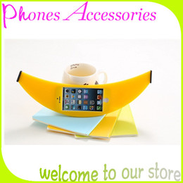 Wholesale Silicone Cases For Iphone China - Big Banana Phone Case Silicone Soft Cases for iPhone 4 4S 5 5S Yellow Made in China