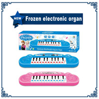 Wholesale Princess Girl Song - High Quality Frozen princess Anna Elsa Girls toys Children electronic organ Electronic keyboard cartoon Electone with music 8 Song(1704007)
