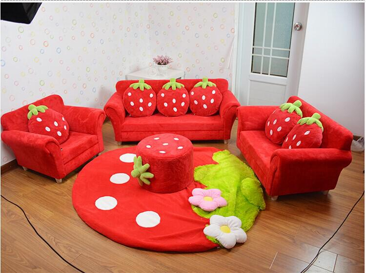 Fabulous 2019 Coral Velvet Children Sofa Chairs Cushion Furniture Set Cute Strawberry Style Couch For Kids Room Decor Christmas Birthday Gift From Jackylucy Beatyapartments Chair Design Images Beatyapartmentscom