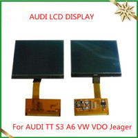 Wholesale Audi S3 Vdo Lcd Display - LCD CLUSTER DISPLAY For AUDI TT S3 A6 VW VDO OEM Jeager Audi Lcd Display Free Ship