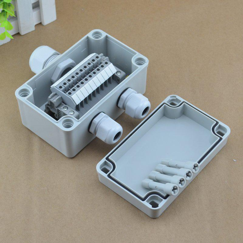 2018 ip65 waterproof cable junction box 80 130 70mm with uk2 5b din rh dhgate com Weatherproof Tool Box Weatherproof Outdoor Electrical Box