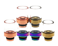 Very Beautiful Rainbow Drip Tips En Acier Inoxydable Wide Bore Drip Tip 510 EGO Atomiseur Embouchures Pour CE4 K100 Vivi Nova E Cigarette