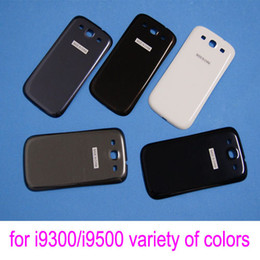 Wholesale Galaxy S3 Back Replacement - Replacement Battery Door for Samsung Galaxy S4 i9500 S3 i9300 Original Plastic Back Cover Housing Parts