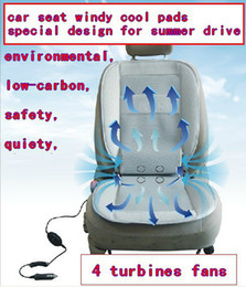 Wholesale Car Seat Fan - Wholesale-free shipping, summer windy cool pads for car seats, four turbine fans to cool the back,waist and breech driving in summer days