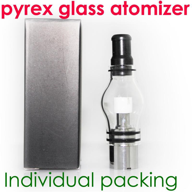 Globo de cristal atomizador vidrio pyrex tanque de cera de la hierba seca cigarrillos de vapor de pluma vaporizador atomizadores de vidrio cigarrillo electrónico glassomizer para ego