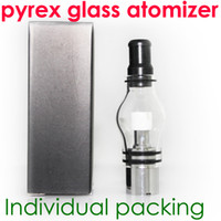 Wholesale Dry Herb Electronic Cigarettes - Glass globe atomizer pyrex glass tank Wax dry herb vaporizer pen vapor cigarettes electronic cigarette glass atomizer glassomizer for ego