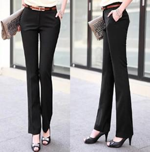 aa428e88a5 2019 OL Dress Pants Female Boot Cut Pants Suit Pants Slim Thin Section Was  Thin Trousers Pants Spring And Summer Women S Trousers Career From Babala3