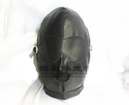 Black Hole Toys Canada - Women's PU Sex Head Hoods Mask with Mouth Holes BDSM Slave Bondage Adult Games Sex Toys Products HM1015