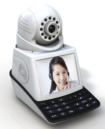 Wholesale Video Monitoring Systems - Network video phone camera wireless IP camera baby monitor P2P alarm system pan tilt night vision free video phone call