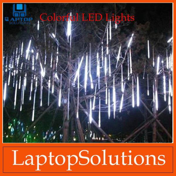 2018 50cm led christmas lights led lights strip meteor shower rain tube snowfall led strip light white outdoor decoration led light from laptopsolutions