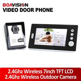Wholesale Wireless Door Monitoring System - 2.4GHz 7Inch Wireless Video Door Phone Audio Visual Intercom Monitor with CMOS Camera door monitoring system