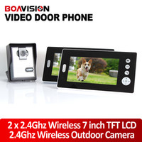 Wholesale 2 GHz Wireless Video Door Phone Audio Visual Intercom Monitors with CMOS Camera Night Vision Home Security
