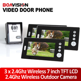 """Wholesale Tft Doorbell - 7"""" TFT 2.4G Wireless Video Door Phone Intercom Doorbell Home Security Camera Monitor Night Vision 1to3"""