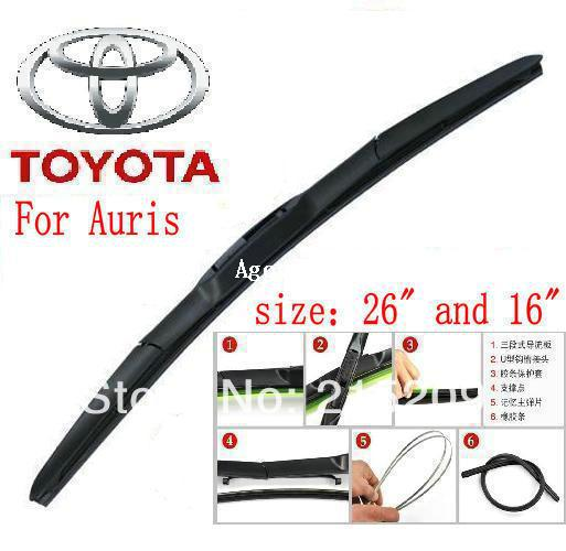 car wiper blade for toyota auris size 16 26 soft rubber. Black Bedroom Furniture Sets. Home Design Ideas