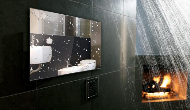 26inch Bathroom Tv Waterproof Mirror Washroom For