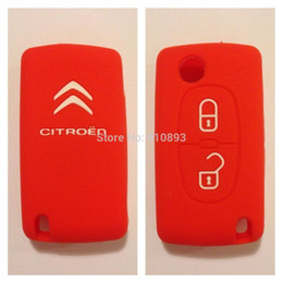 Wholesale Cover For Car Key Fobs - Silicone Cover for CITROEN C2 C3 C4 C5 Picasso Remote Key cover Fob Case 3 buttons support dropshipping 2pcs lot