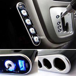 Car Power Port Splitter Canada - Free Shipping Hotsale USB 4-Port Car Power Lighter Cigarette Socket 4-Way Splitter Adapter 12V