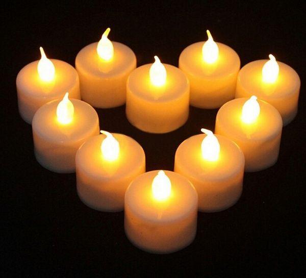 Flackernde batteriebetriebene LED-Kerze Teelicht Kerzen Flammenlos Rauchfrei Romantisch Valentinstag Hochzeit Geburtstagsfeier Weihnachtsdeko